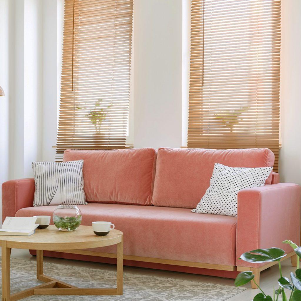 Holz Jalousien für das Wohnzimmer