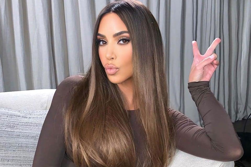 trendige Haarfarben Kim Kardashian