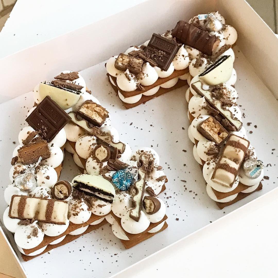 Kinder Schokoladentorte - Kinder Bueno Torte Zahlen Torte