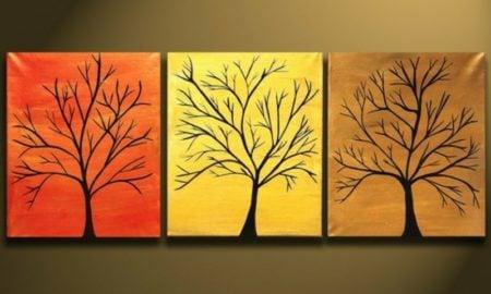 Leinwand bemalen Bäume