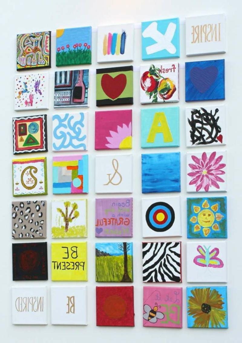 selbstgemachte Wanddeko Ideen und Anregungen