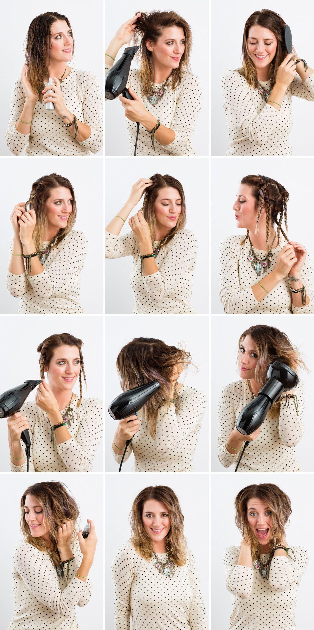 Locken ohne Hitze mit Haargummi - Locken ohne Lockenstab