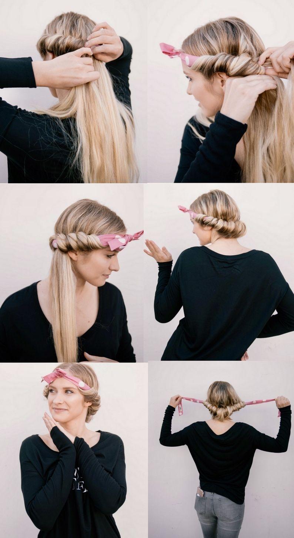 Locken ohne Lockenstab mit Haarband