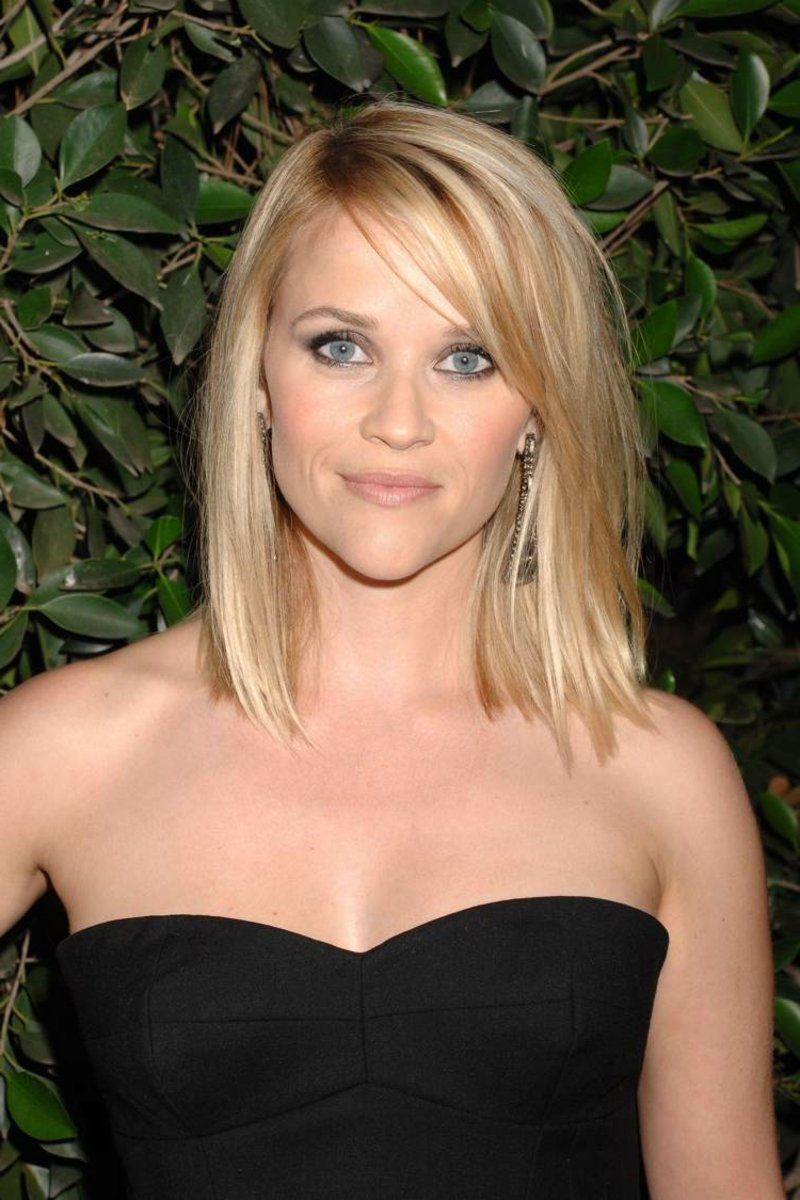 Long Bob blonde Haare Reese Witherspoon