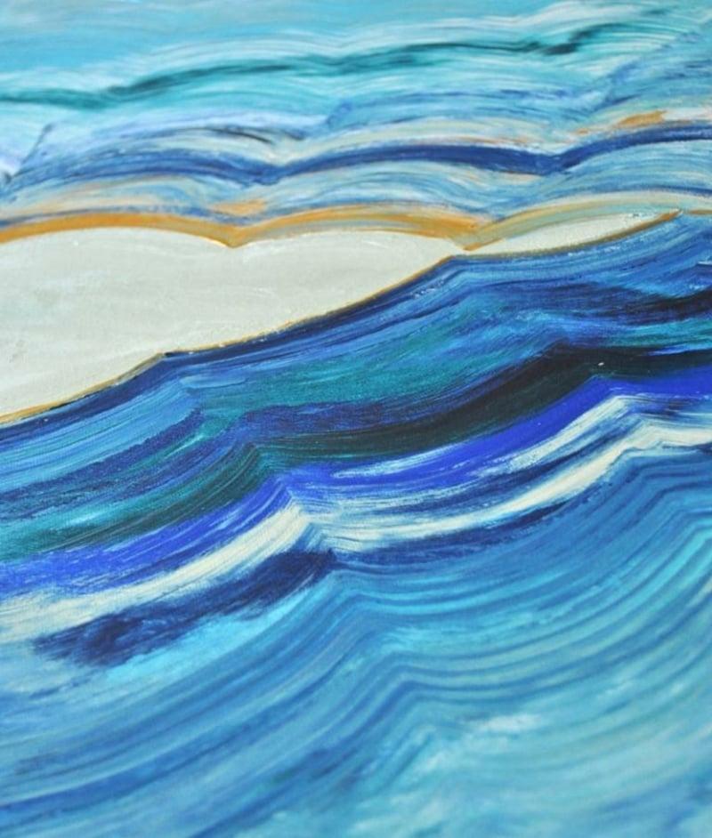 Wellen gestalten Leinwand