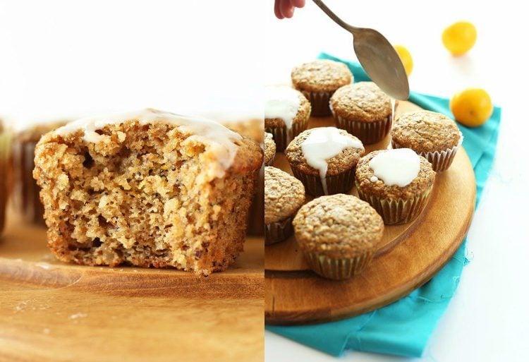 vegane Muffins dekorieren Zuckerguss
