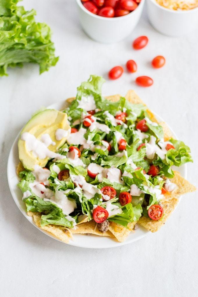Nacho Salat Rezept Mexikanischer Schichtsalat