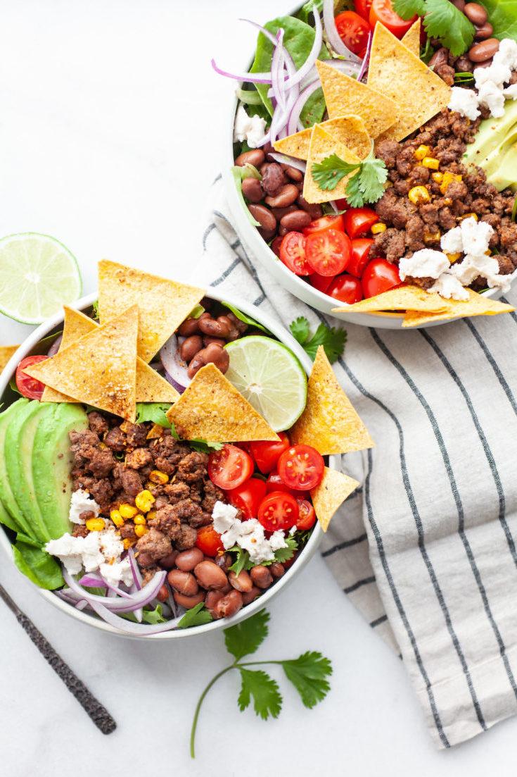 Mexikanischer Salat mit Bohnen