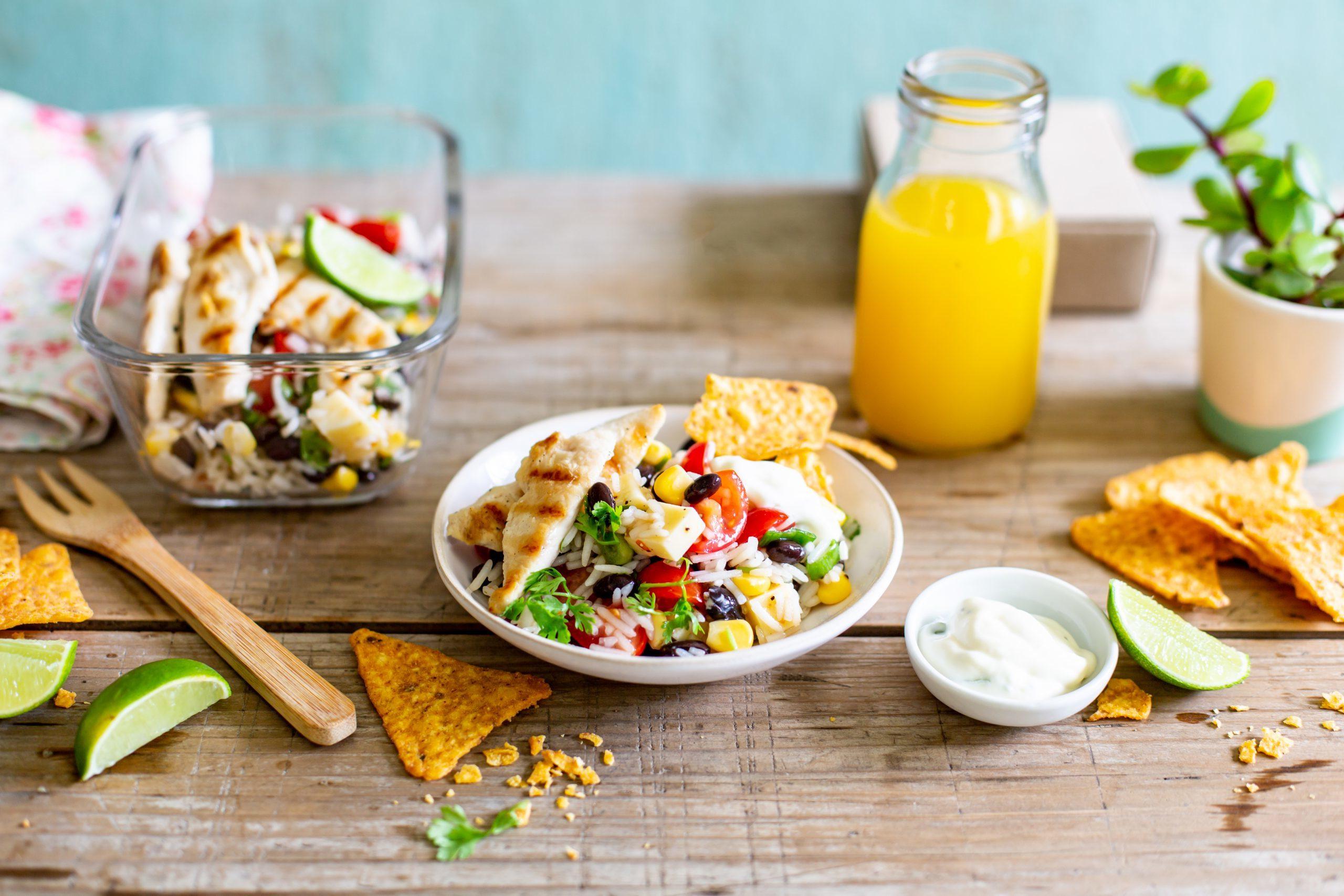 Nacho Salat Taco Salat mit Cocktailsauce
