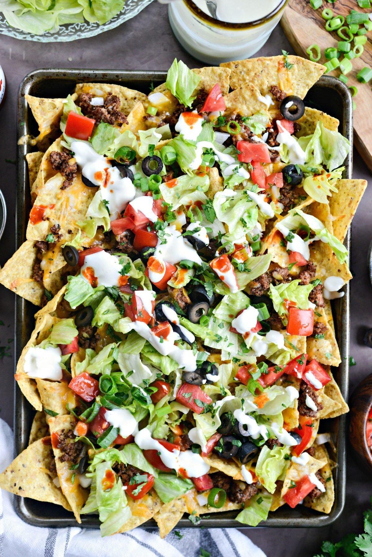Nacho Salat Taco Salat Schichten