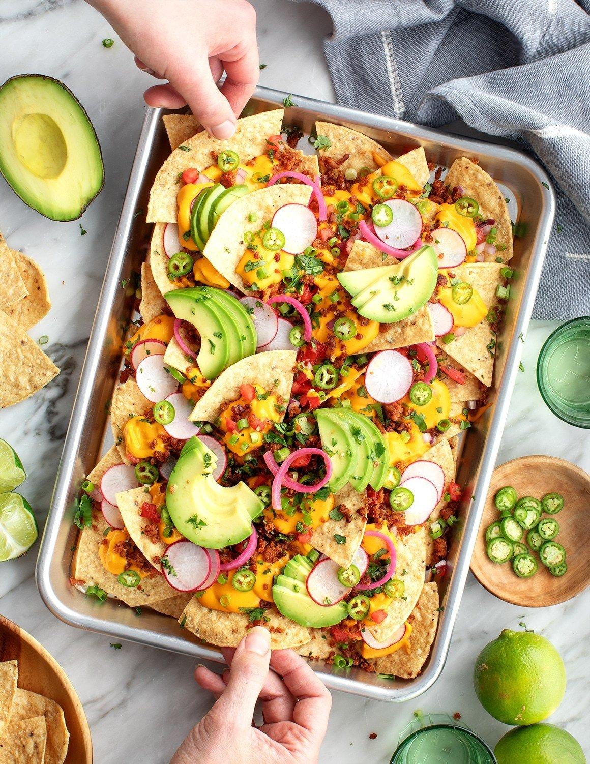 Nacho Salat mit Avocado