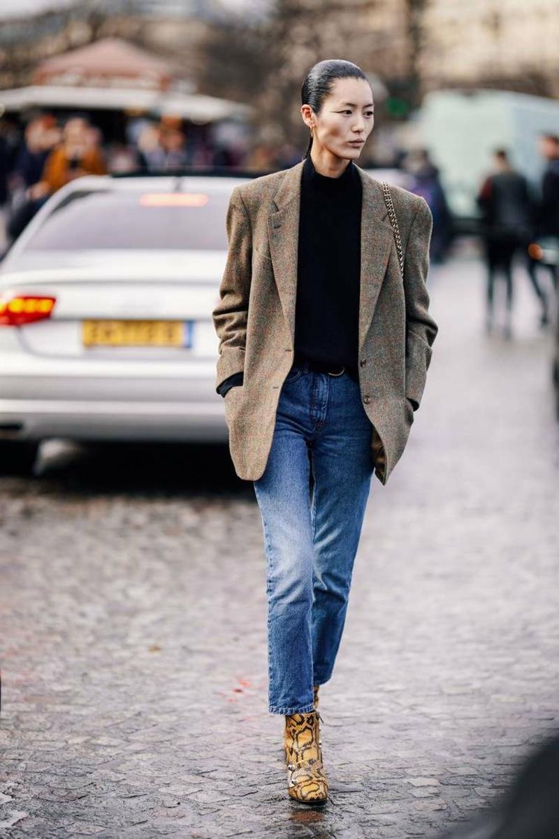 Oversize Blazer mit Jeans