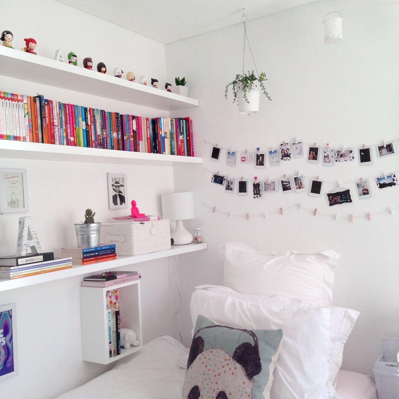Tumblr Zimmer Deko mit Bildern und Büchern