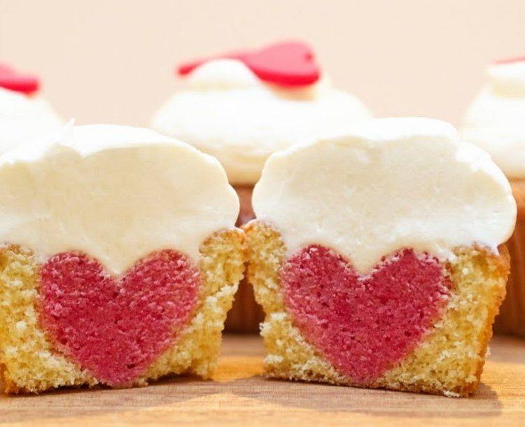 vegane Muffins Herz herrrlicher Look