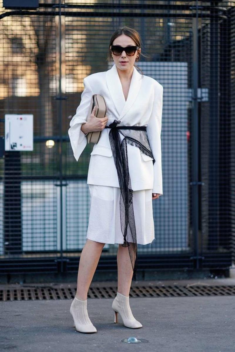 eleganter Outfit in Weiß