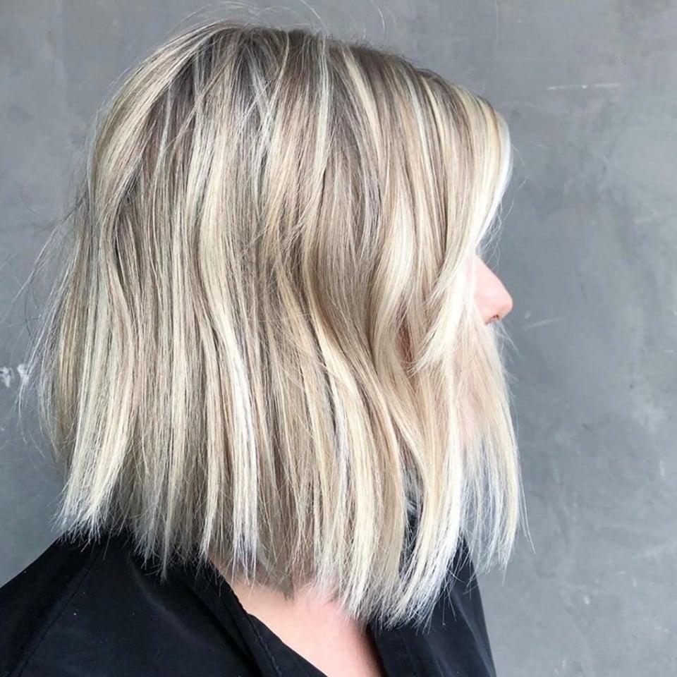 Welche Strähnen passen zu blonden Haaren -Ideen für Kurzhaarschnitte