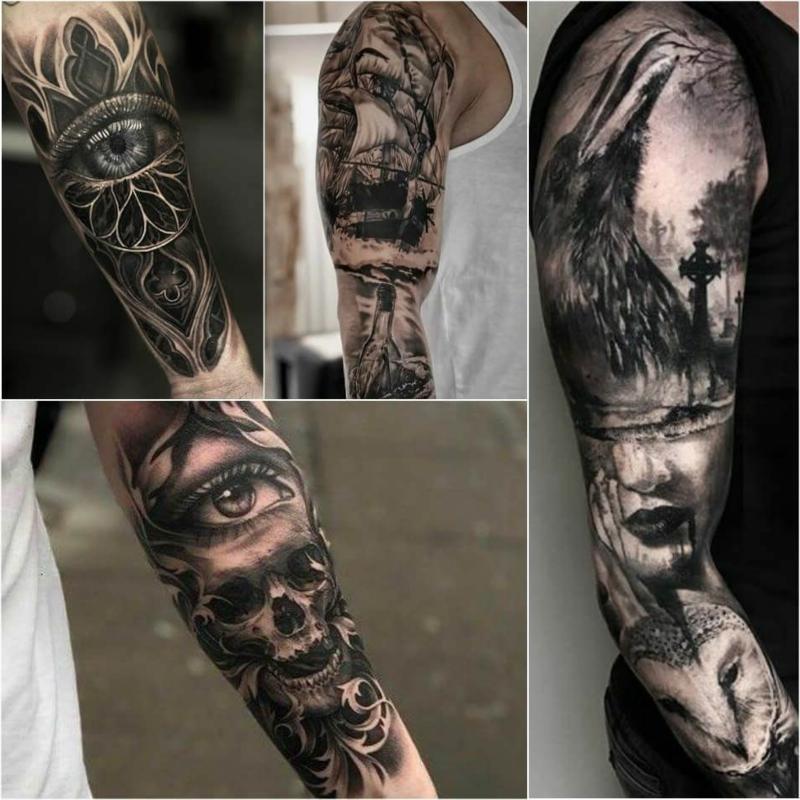 3D Tattoos Ärmel attraktiv