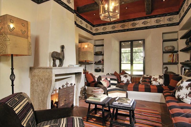 Wohnzimmer einrichten wunderschöne afrikanische Muster