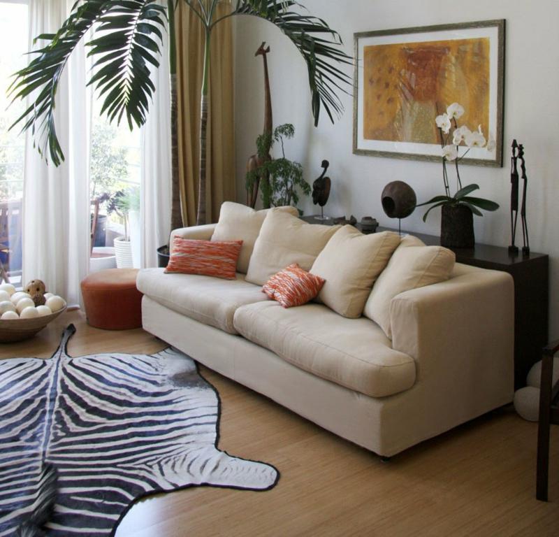 afrikanische Deko Palme dekorativer Teppich