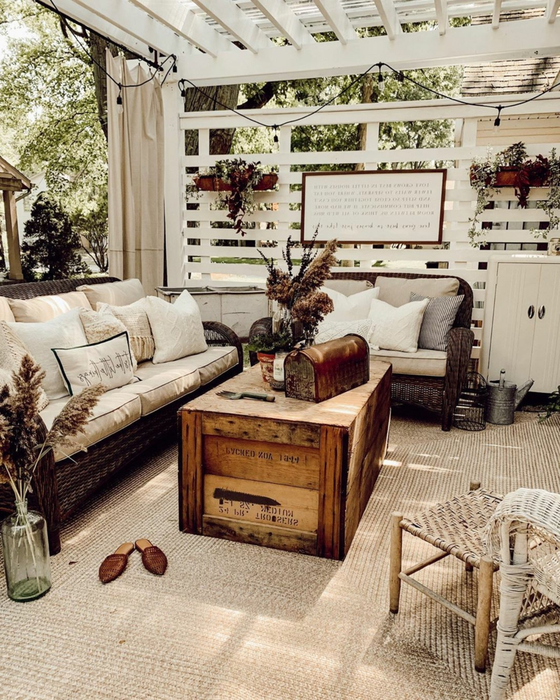 die Terrasse dekorieren Vintage