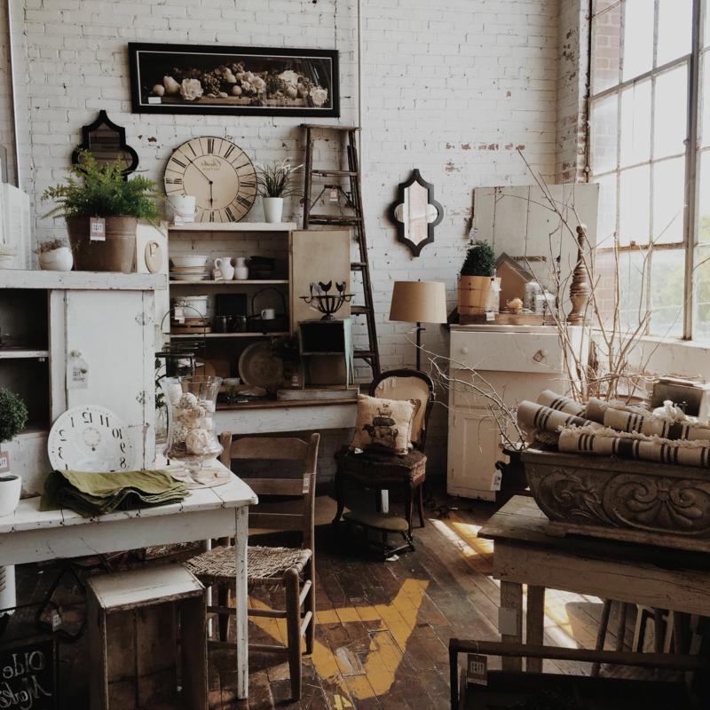 elegantes Vintage-Interieur Wohnzimmer