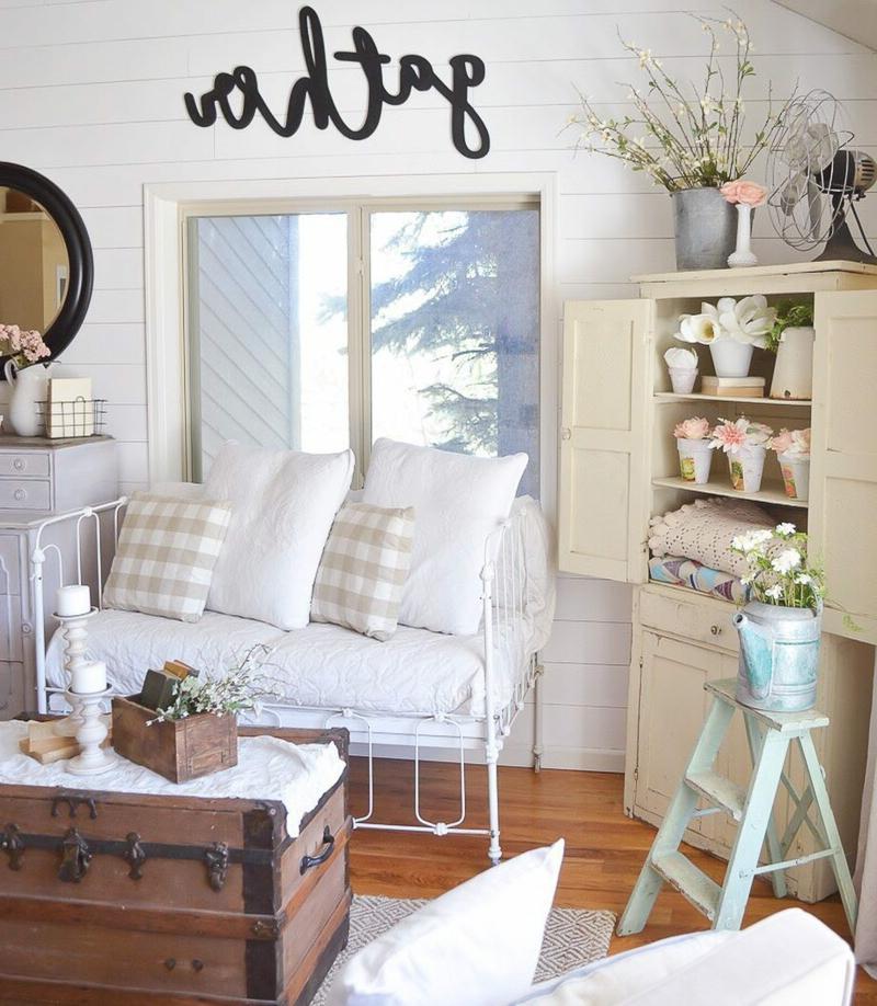 Vintage-Deko Wohnzimmer sehr romantischer Look