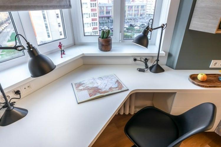 platzsparende Ideen für Arbeitsplatz zu Hause