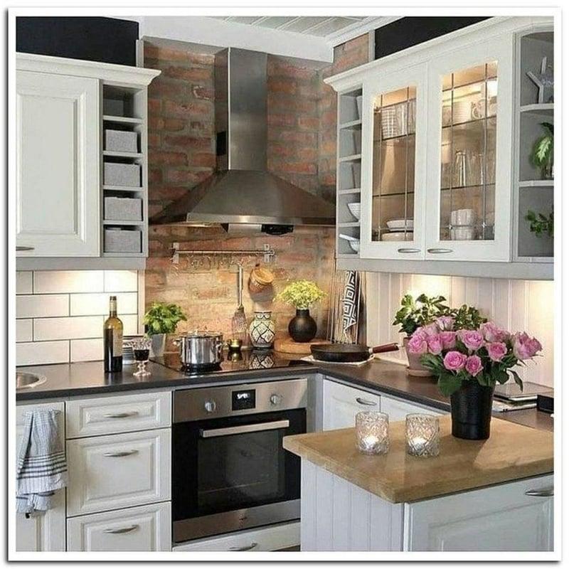 Küche dekorieren Tipps Landhausstil romantische Ideen