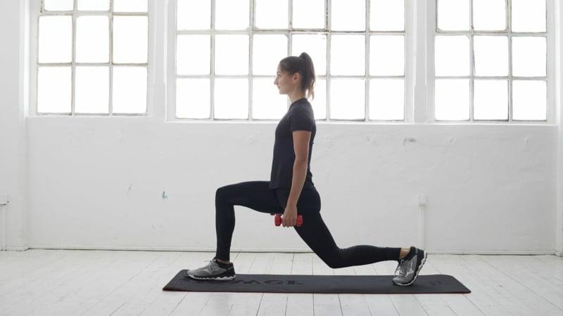 Ausfallschritt Yoga Übungen für Anfänger