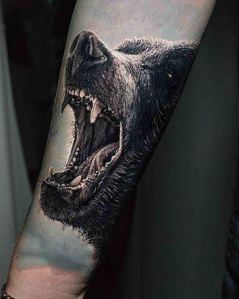 3D Tattoos Bär Arm