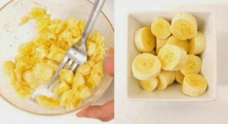 Haarkur gegen Spliss mit Banane und Mandelöl
