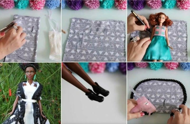 einfache Bastelideen Puppenkleidung