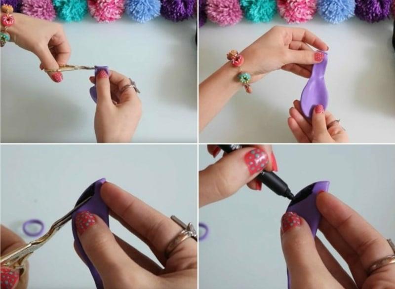 Puppenkleidung machen aus Luftballon