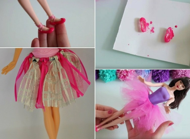 Puppenrock aus Tüll selber basteln
