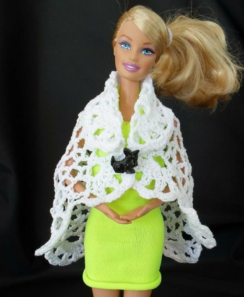 Barbie Kleidung selber machen Spitze
