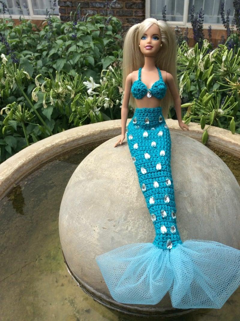 Barbie Meerjungfrau herrlicher Outfit