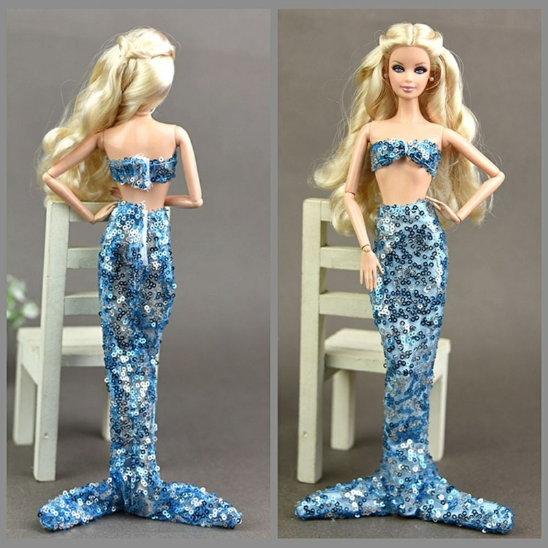 Barbie Meerjungfrau Outfit mit Pailetten