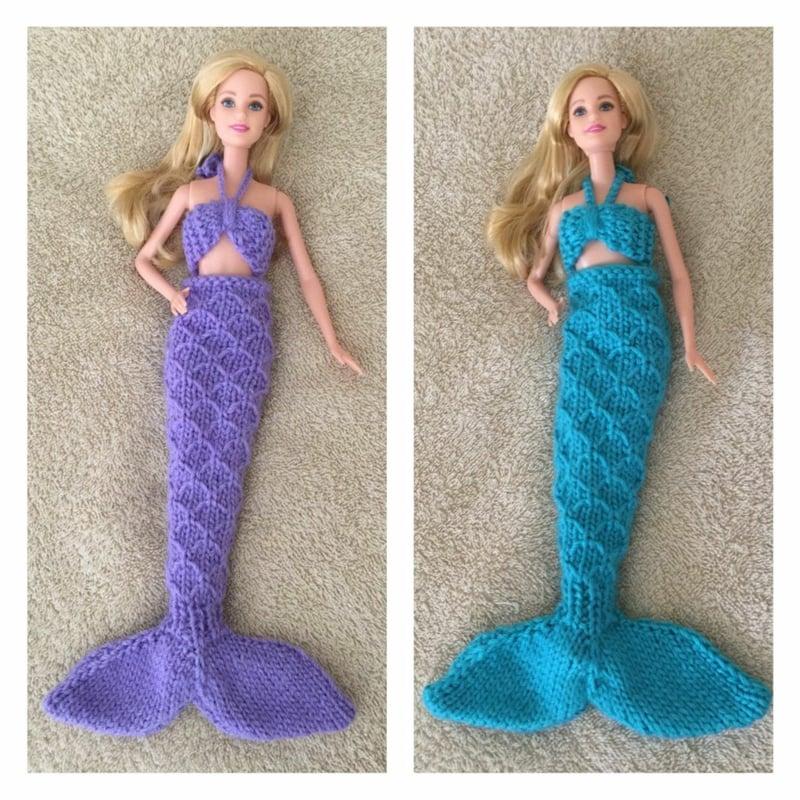 Barbie Kleidung selber machen Meerjungfrau