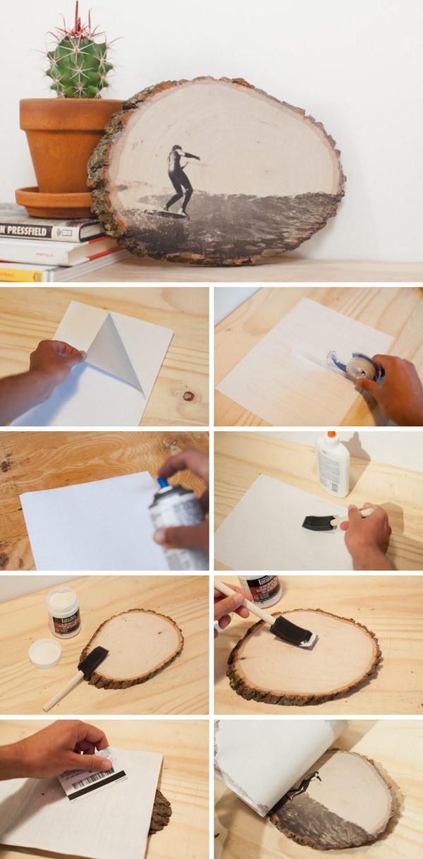 Foto auf Holz liegt voll im Trend und eignet sich perfekt sowie für ein Geschenk, als auch für DIY Deko