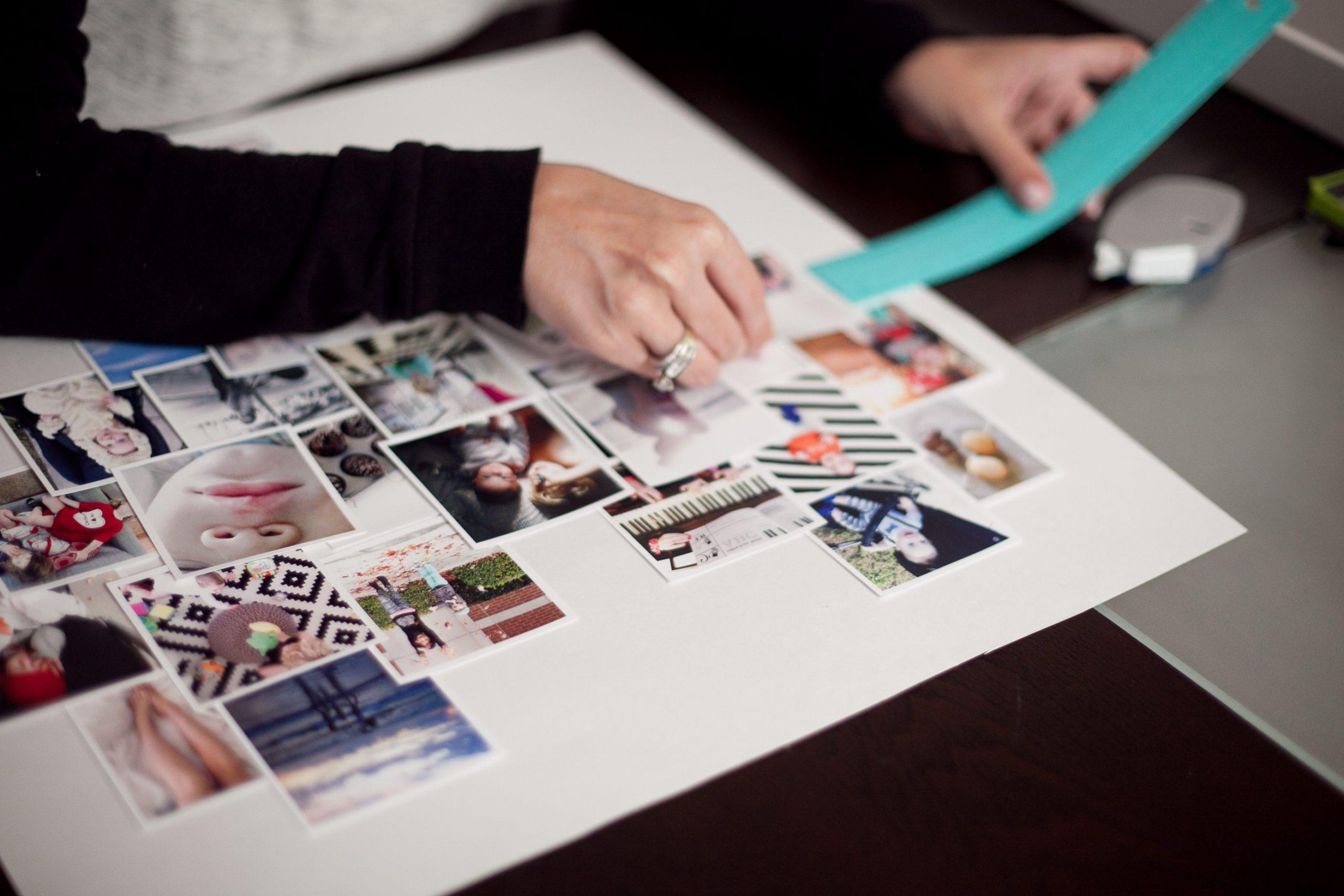 Basteln mit alten Fotos - DIY Fotowand Herz