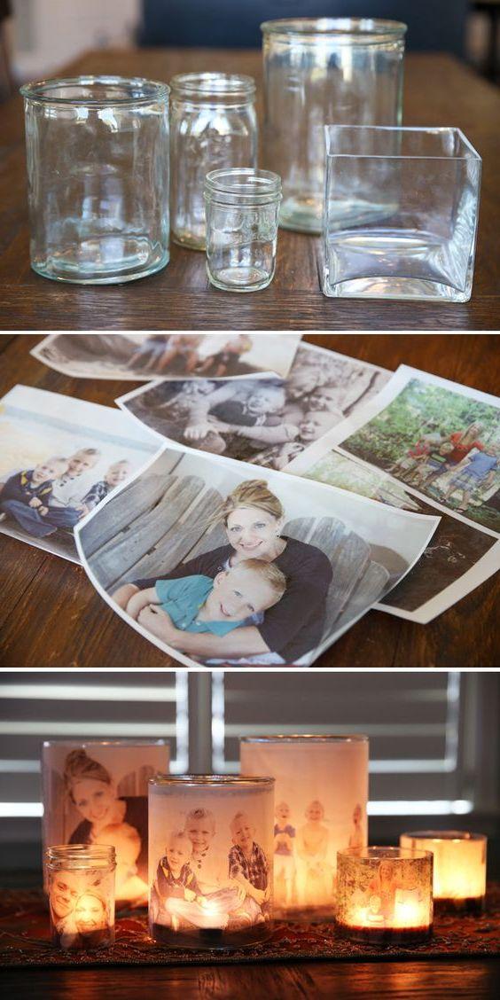 Durch Basteln mit alten Fotos Ihr Zuhause mit einzigartigen Wohnaccessoires aufpeppen