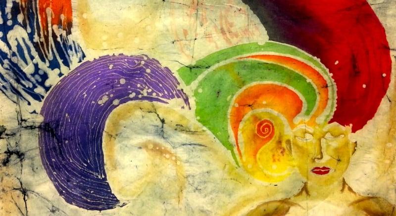 Batiktechnik mit Wachs schöne Motive malen