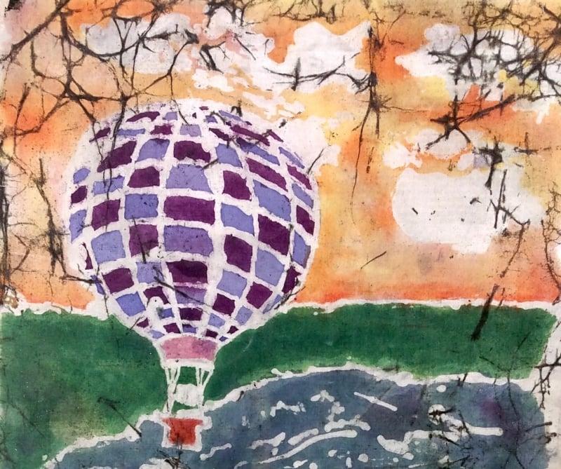Batiktechnik Luftballon herrlicher Look