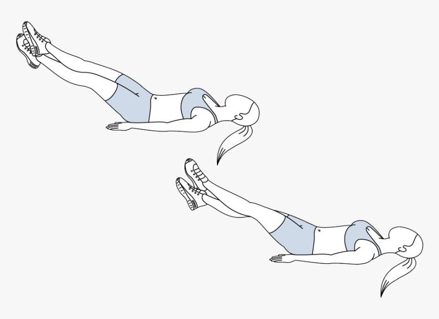 effektives Training Bauch Beinschere