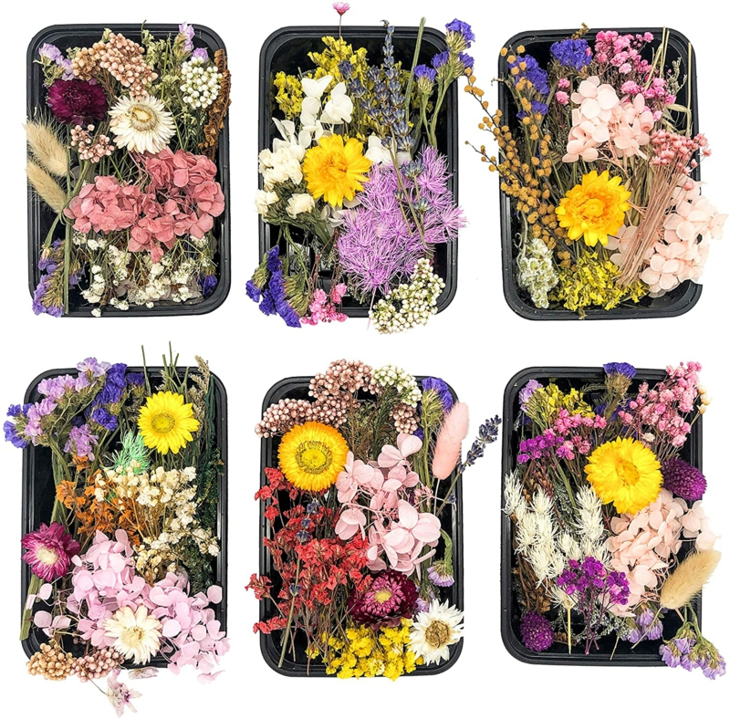 Blumen sammeln natürliche Deko
