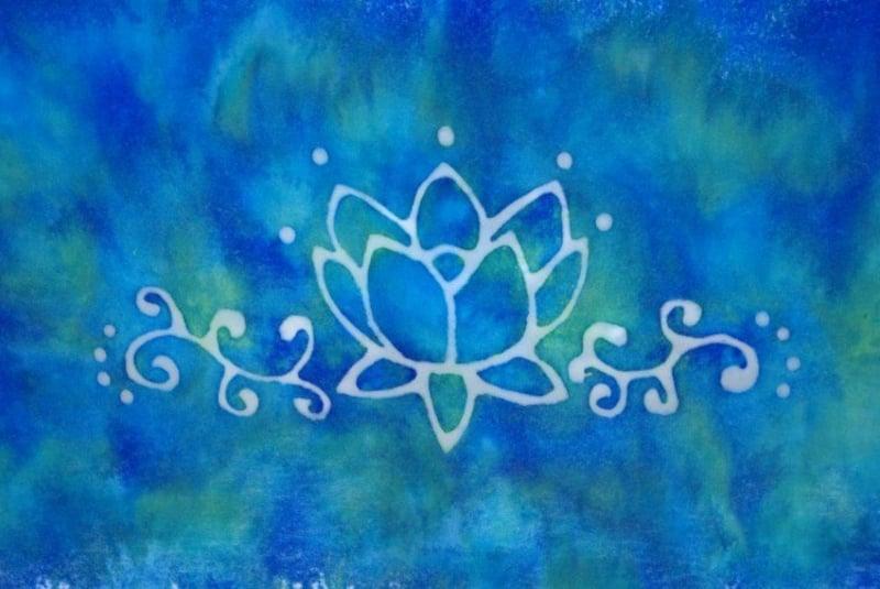 Batiktechnik Lotusblume-Muster