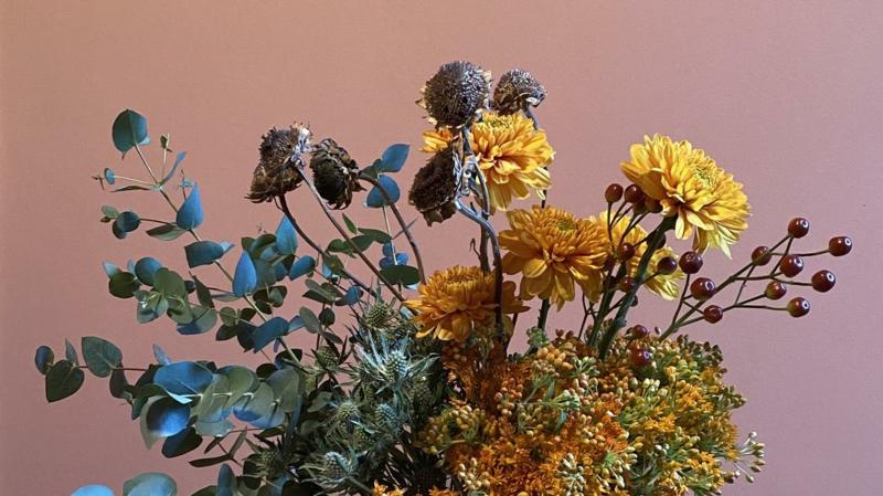 trockene Blumen wunderschöner Look