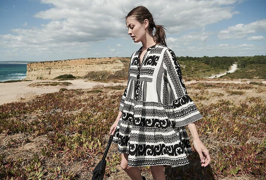 lässiges Kleid Bohemian Stil