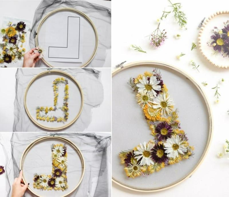 Monogramm machen Trockenblumen