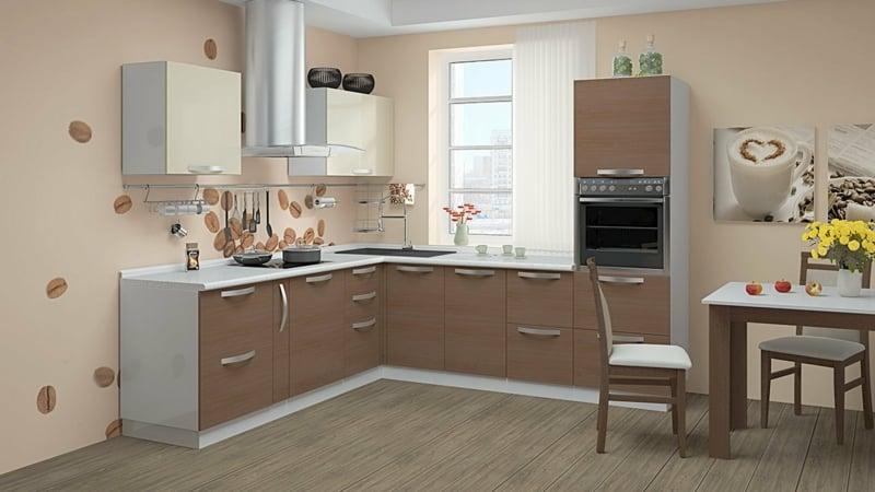 Interieur in Neutralfarben Küche